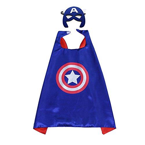 Andyshi Nieuwe Dubbele Lagen Halloween Children's Cartoon Hero Superman Mantels met Maskers Oogschaduw