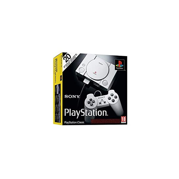 Playstation Classic Console with 20 Classic Playstation Games Pre-Installed Holiday Bundle, Includes Final Fantasy VII, Grand Theft Auto, Resident Evil Director's Cut and More