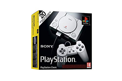 Playstation Classic Console with 20 Classic Playstation Games Pre-Installed Holiday Bundle, Includes...