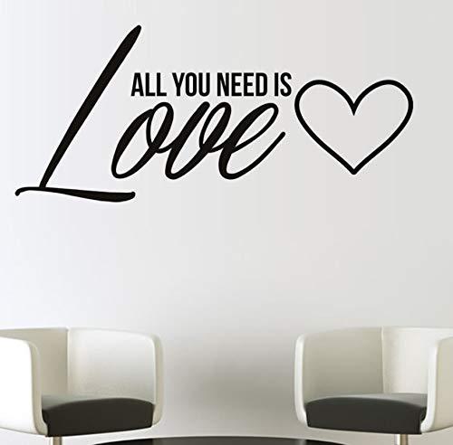 EyingEr All You Need Is Love Vinilos Decorativos Vinilo Removible Para Pared Decoración Para El Hogar Wall Sticker59 * 134Cm