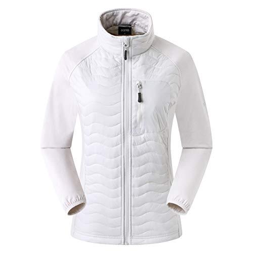 Eono Essentials, giacca ibrida imbottita DuPont Sirona Eco, da donna, colore grigio chiaro, taglia M