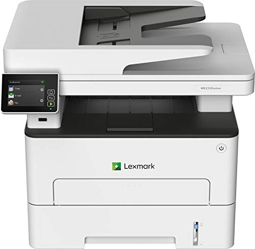 Lexmark MB2236adwe Multifunction Wireless Monochrome Laser Printer with A 2.8 Inch Color Touch Screen, Standard Two-Sided Printing, Fax Capability (18M0700)