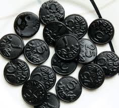 Klene Licorice Coins 1 Kilo Bag (Pack of 3)