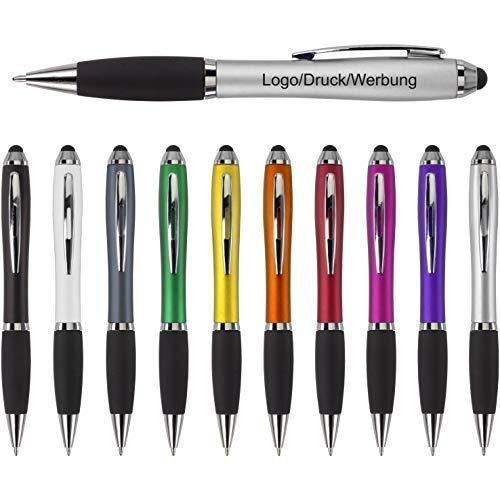 Schmalz Werbeservice Kugelschreiber Bristol inkl. Druck Touch mit Werbung/Logo/Druck/Werbedruck Kugelschreiber Bedruckt Digitaldruck Mehrfarbig (Menge: 250 Stück, orange)