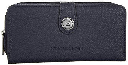 Stone Mountain Ludlow Navy SLG Zip Around Leather Clutch Wallet