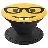 Nerd Smiley Emoticon Emoji - PopSockets Ausziehbarer Sockel und Griff für Smartphones und Tablets
