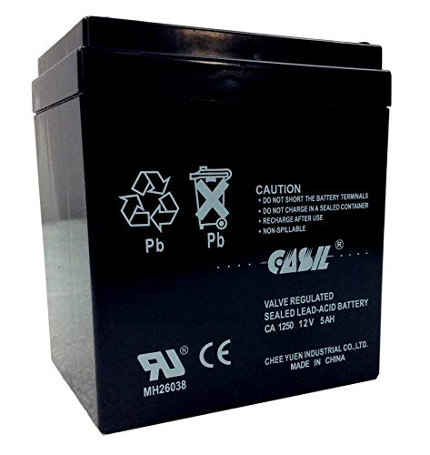 Casil CA1240 12v 4ah Upgrade Casil CA1250 12v 5ah ADT Alarm Battery by Inovel Power