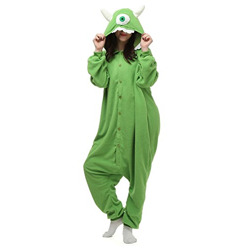 VU Roul Halloween-Kostüm Kigurumi Einteiler S Animal für Erwachsene Gr. Medium, Mike