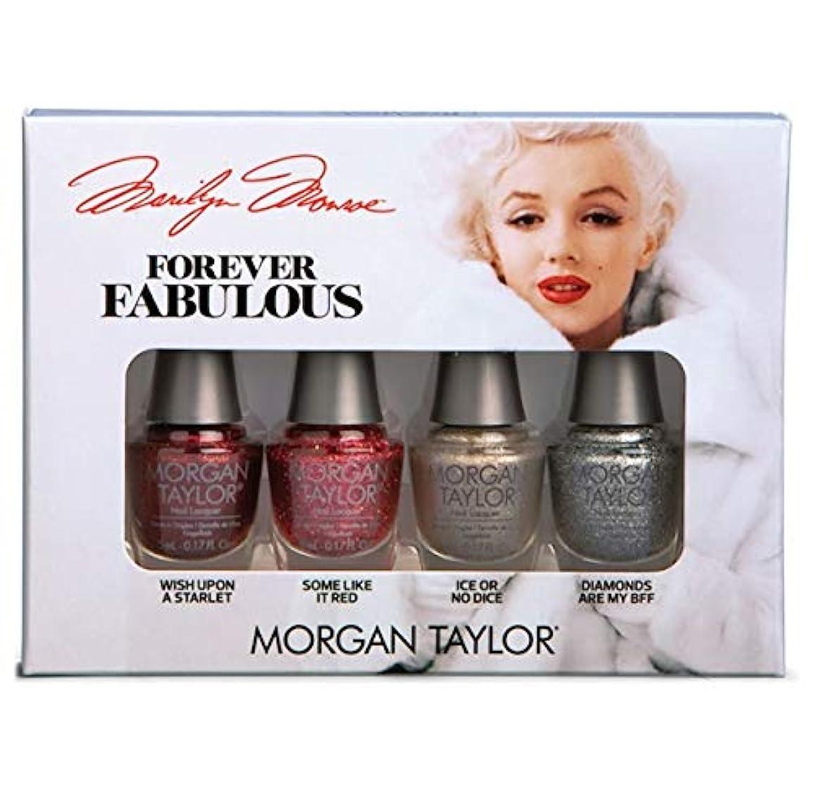 適性排出リールMorgan Taylor - Forever Fabulous Marilyn Monroe Mini 4 Pack - Glitter - 5 mL / 0.17 oz