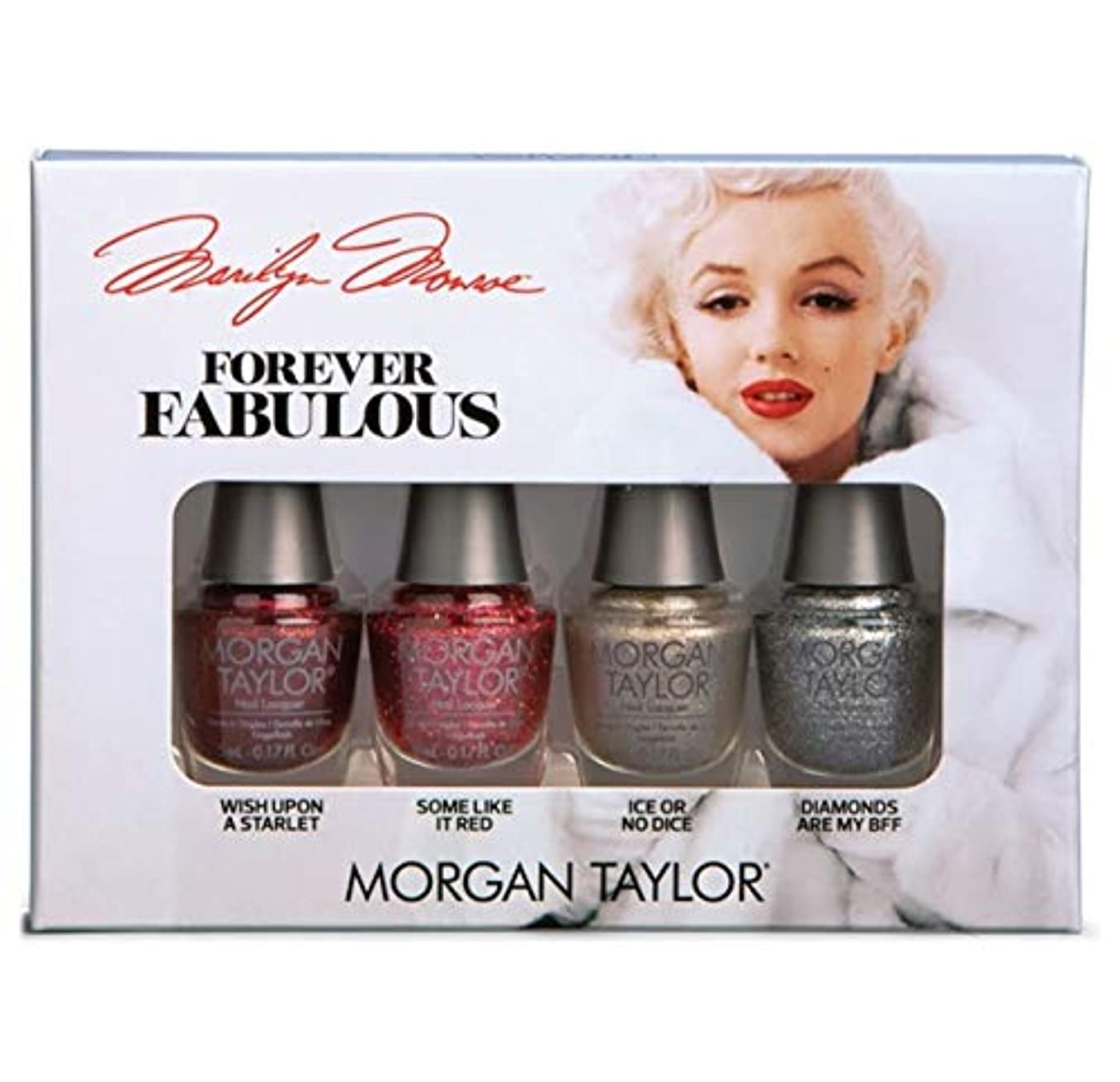 素人言及する画面Morgan Taylor - Forever Fabulous Marilyn Monroe Mini 4 Pack - Glitter - 5 mL / 0.17 oz