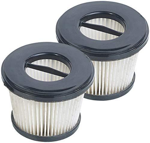 Sichler Haushaltsgeräte Zubehör zu Elektrischer Staubsauger: 2er-Set Ersatz-HEPA-Filter für 2in1-Akku-Zyklon-Staubsauger BHS-500.ak (Akku Staubsauger Bürste)