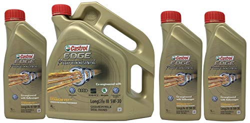 Castrol Edge Professional 5W-30 LONGLIFE III con Titanium Fst 7 litri (1x4 lt + 3x1 lt)