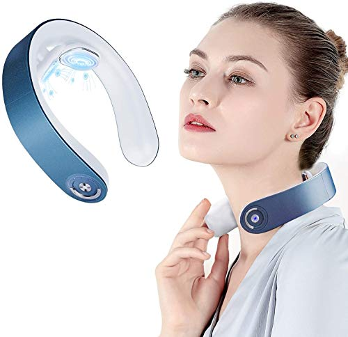 Nackenmassagegerät,Shiatsu-Nackenmassagegerät,Elektrisches Puls-Nackenmassagegerät, Elektrisches Nackenmassagegerät mit 6 Arbeitsmodi, drahtloses 3D-Reise-Intelligentes Nackenmassagegerät