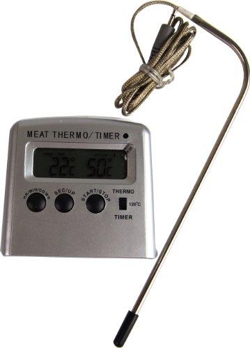 Birambeau 9379 Thermomètre à Viande avec Sonde 25,3 x 14,3 x 3,8 cm