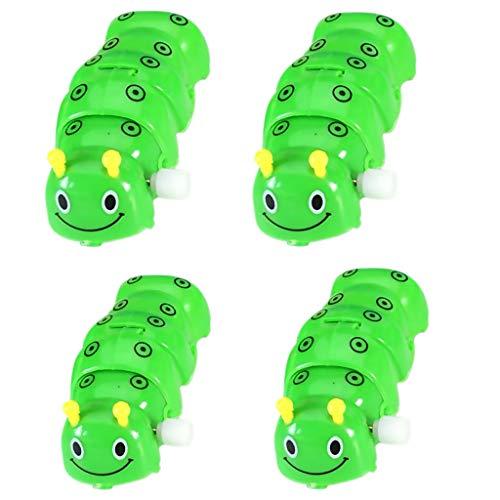 Baoblaze 4pcs Nette Raupe Puppen Aufziehtier Aufzieh Figur für Kinder Lernspielzeug