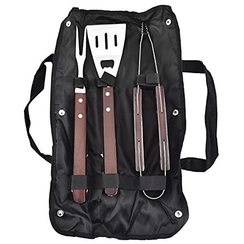 Pinzas Barbacoa 3pcs de acero inoxidable BARBACOA Set de herramientas Conjunto de accesorios de barbacoa Utensilio para herramientas...