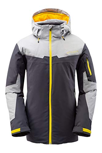 Spyder Herren Chambers Gore-Tex Skijacke - Male Full Zip Hooded Wintermantel, Herren, Chambers Gore-tex Ski Jacket, ebenholz, Large
