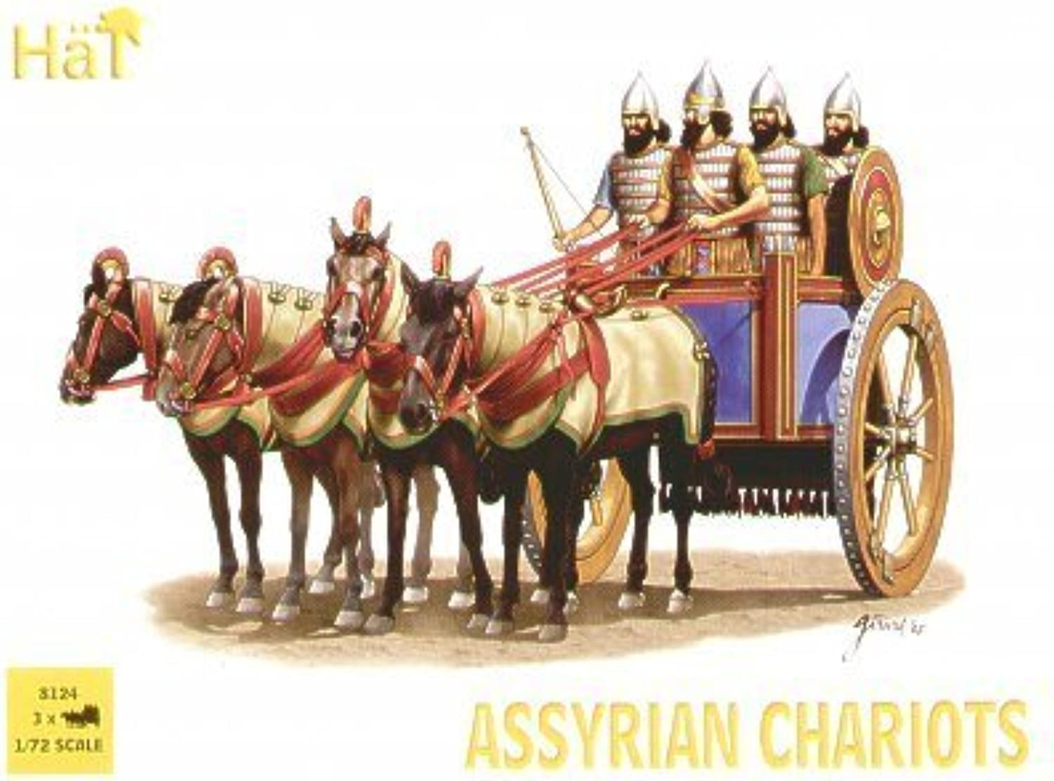 Assyrian Chariots (3 Sets) (4ea Soldiers, Horses & 3 Chariots) 1 72 Hat by HaT Industrie