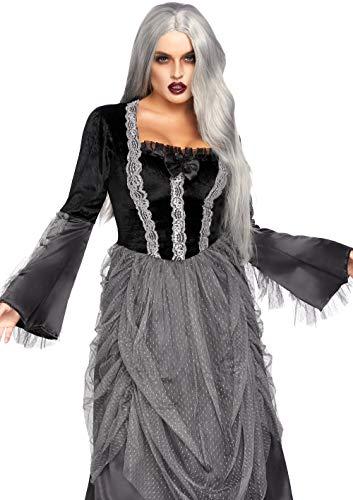 Leg Avenue fluweel en satijn Victoriaanse baljurk, dames carnaval kostuum carnaval