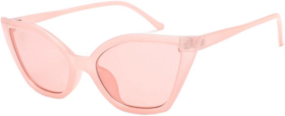 A Glasses Hergoto Womens Fashion Vintage Cateye Frame Shades Acetate Frame UV Glasses Sunglasses