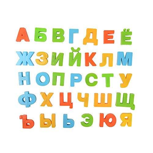 BOHS Letras del Alfabeto magnético Ruso Imanes de Nevera, Juguete de Aprendizaje Educativo para niños, Decoración del hogar, Tablero de Mensajes del refrigerador, Paquete de 33 Piezas