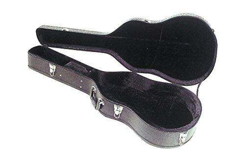 FX F560120 - Estuche de madera para guitarra acústica con 6 cuerdas