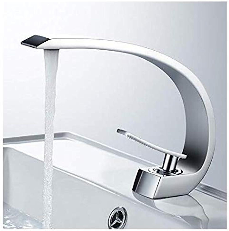Edelstahlhahn Weie Chrombadhahn Warmes Und Kaltes Wasser Waschbecken Wasserhahn Bad Zubehr Mischbatterie