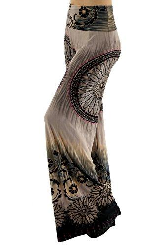 Uptown Apparel Womens High-Waist Wide-Leg Palazzo Lounge Pants  Ideal for Tall Women Gray