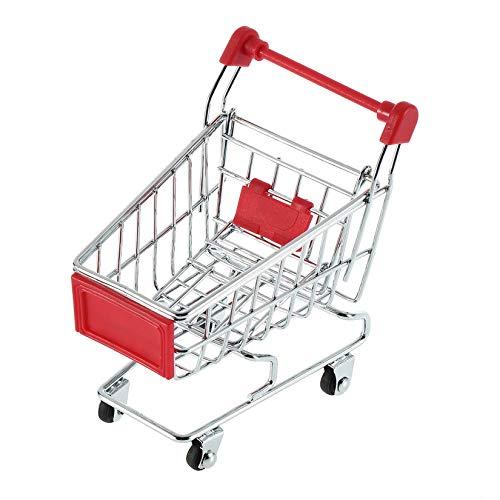 ZengBuks Überlegene Qualität Netter Edelstahl Mini Supermarkt Handwagen Warenkorb Farben Stylish - Rot