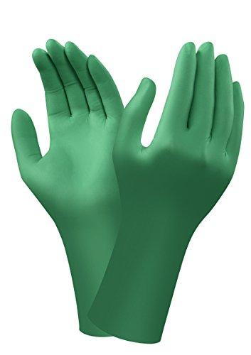 Ansell Dermashield 73-721 Guanto in Neoprene, Protezione Contro le Sostanze Chimiche e Liquide, Verde, Taglia 6 (20 paia)
