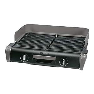 Tefal Elektrogrill Family TG8000   Tischgrill/BBQ   Für drinnen und draußen   Zwei getrennte Grillroste mit stufenlosen Thermostaten, individuell regulierbar   Spülmaschinengeeignet   2400W
