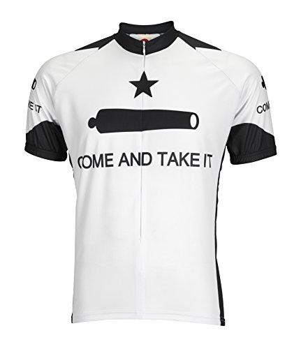 BDI Come & Take It Cycling Jersey, White/Black, X-Large