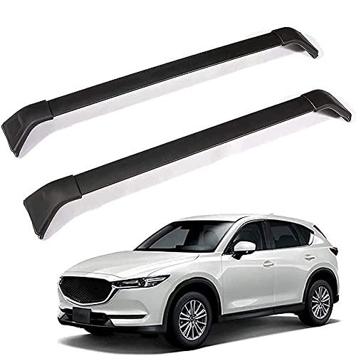 2pcs Barra De Techo Para Los Coches Con Rieles para Mazda CX-5 2017 2018 2019 2020, Barras Transversales Aluminio Barras Porta Equipaje Barras Ajustable Laterales AleacióN Accessories