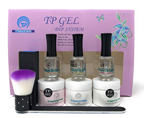 2 oz. per jar Nail dipping powder starter kit. Simple, easy to do TP Gel Powder Dip System. (2oz American Manicure)