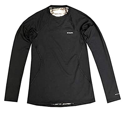 Columbia Womens Midnight Omni-Heat Long Sleeve T-Shirt Baselayer Blouse (L, Black)