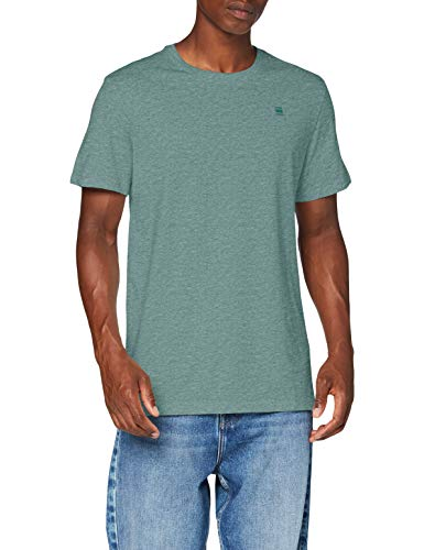 G-STAR RAW Herren Base-s Straight'' T-Shirt, Grün (Jungle Htr 336-B738), XS