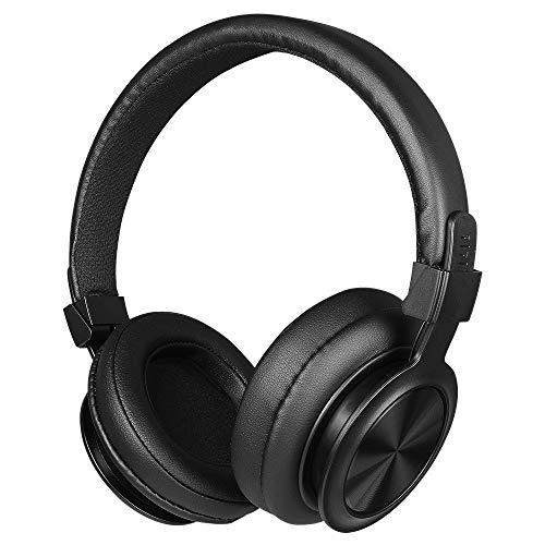 QYWSJ Auriculares Bluetooth con Cancelación de Ruido, Auriculares Estéreo Plegables, Orejeras Suaves Envolventes para Bajos, con Micrófono, para Viajes, Trabajo, TV, PC, Teléfono Móvil