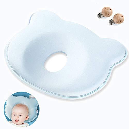 Babykissen,Memory Foam Kissen für Baby,Säuglings-Neugeborenen-Kissen,Baby-Stützkissen Schlafkissen,Baby kissen kopfverformung,Babykissen gegen,Kleines Babykopfkissen