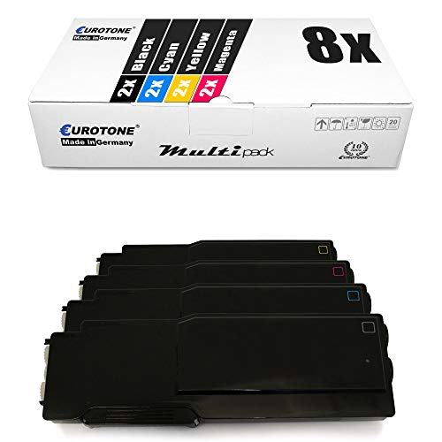 8x Müller Printware XXL toner cartridge for Dell C 3760 3765 dn dnf n replaces