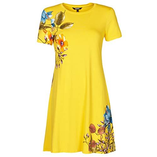 Desigual Vest_Las Vegas Vestido Casual, Amarillo, XL para Mujer