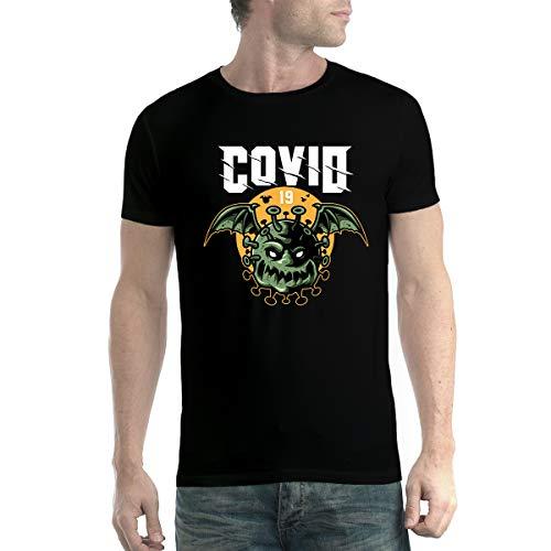 avocadoWEAR Coronavirus Covid-19 Pipistrello Uomo T-Shirt Nero XL