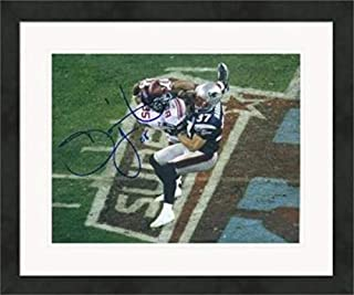 Autographed David Tyree Photo - 8x10 The Super Bowl XLII Catch #1 Matted & Framed - Autographed NFL Photos