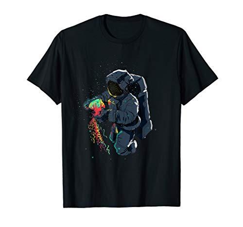 Raumfahrer im Weltraum   Astronaut mit Qualle T-Shirt
