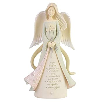 Enesco Foundations Heart Guardian Angel Figurine 8.07 Inch Multicolor