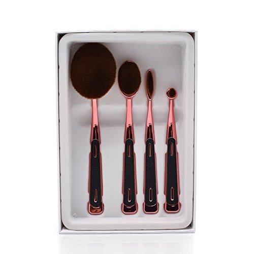 Dolovemk (4 + 3) Pro de beauté Cosmétique Kits ovale Pinceaux de maquillage + éponge de beauté mixeurs