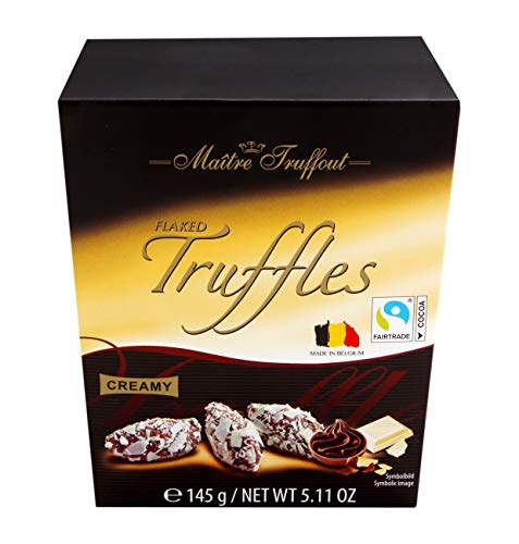 Trüffel Pralinen mit weißen Schokoladeflocken 145g