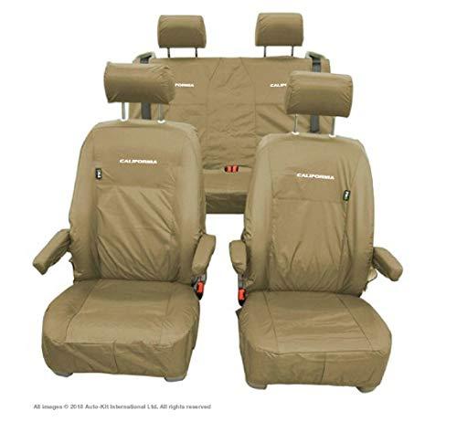 Inka Corp. Fundas de asiento impermeables con bordado – para Volkswagen VW California Ocean T6.1,