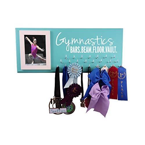 RunningontheWall Gymnastics Equipment, Gymnast Gifts for Girls Gymnastics Beam.Vault.Bars.Floor. Gymnastics Award Rack, Gymnast Ribbon Display
