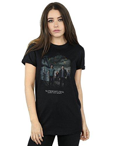 Supernatural Mujer Meteor Shower Camiseta del Novio Fit