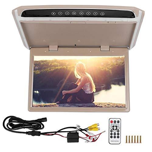 Pantalla del monitor del techo del coche - Monitor LCD TFT de 15,6 pulgadas Monitor de montaje en techo abatible para vehículo Pantalla de monitor HD 1080P Reproductor multimedia USB TF HDMI